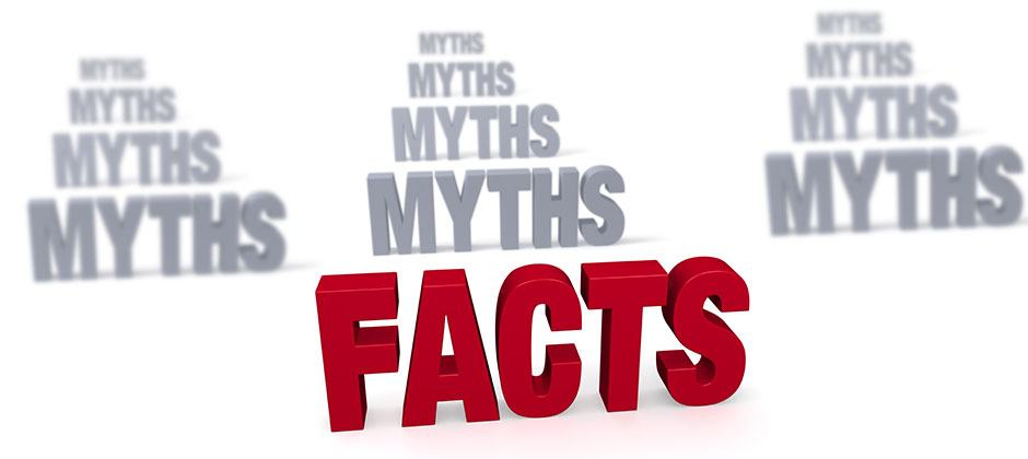 3d text that says Myths and Facts
